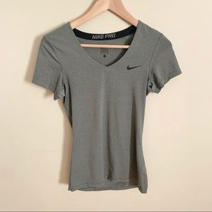 2/$20 Grey Nike Pro T-Shirt